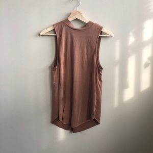 American Eagle faux suede tank